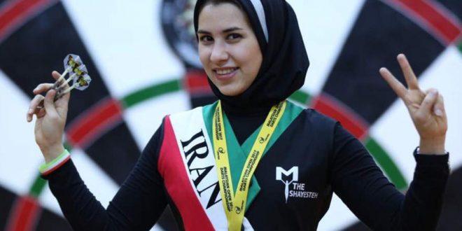 حمایت یک برند معتبر خارجی از بانوی ایرانی در معتبرترین مسابقه دارت دنیا