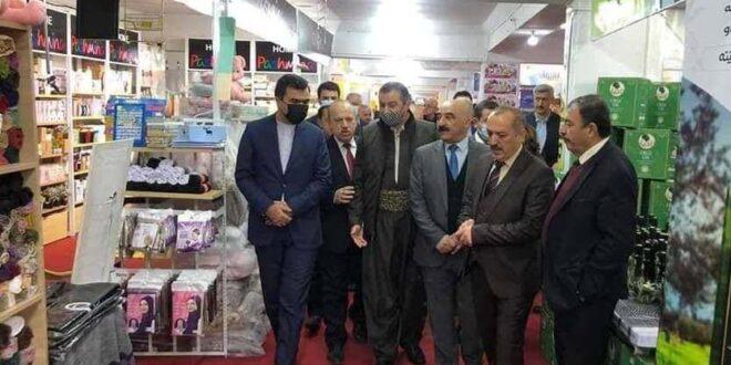 نمایشگاه بین المللی «برند بازار» سلیمانیه با حضور سر کنسول ایران افتتاح شد