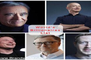 فهرست جدید ثروتمندان جهان ماه می (خرداد۱۴۰۰)