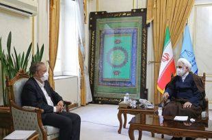 دیدار وزیر صمت با رئیس قوه قضاییه