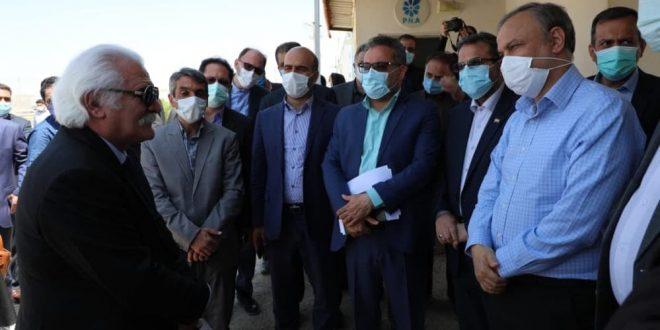 بازدید وزیر صمت از واحد تولیدی پارس هستی سبزوار
