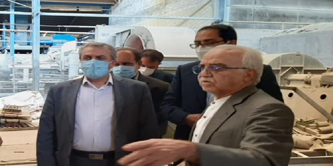 بازدید وزیر صنعت معدن وتجارت از کارخانه آجر دهدشت