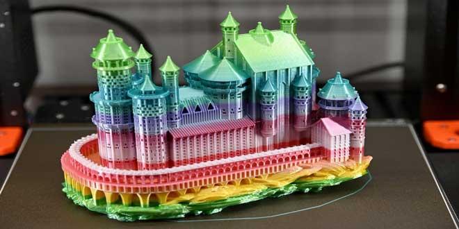 انواع پرینترهای سه بعدی رومیزی با رنگهای ترکیبی